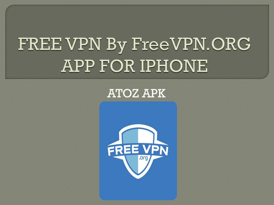 FREE VPN By FreeVPN FOR IPHONE