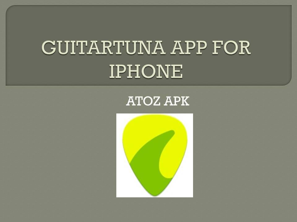 GUITARTUNA APP FOR IPHONE