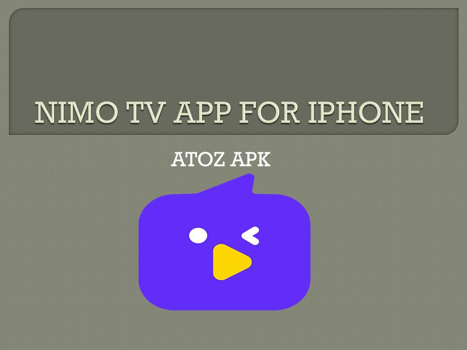 NIMO TV APP FOR IPHONE