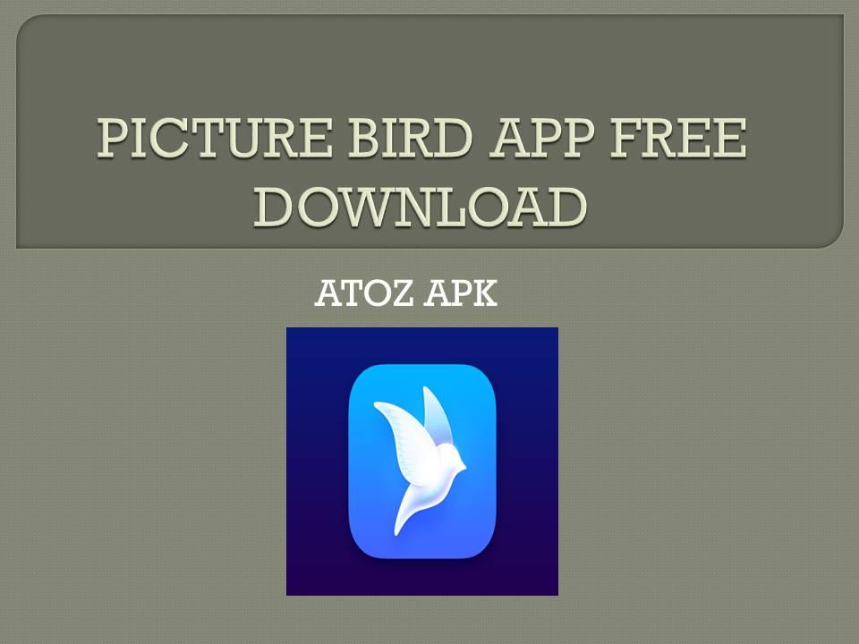 PICTURE BIRD APP FREE DOWNLOAD